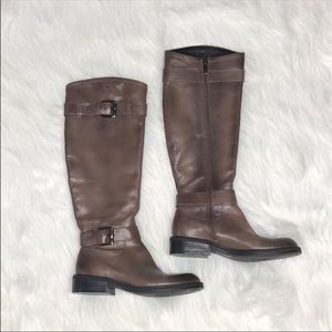 Enzo Angiolini brown leather buckle riding boots 5